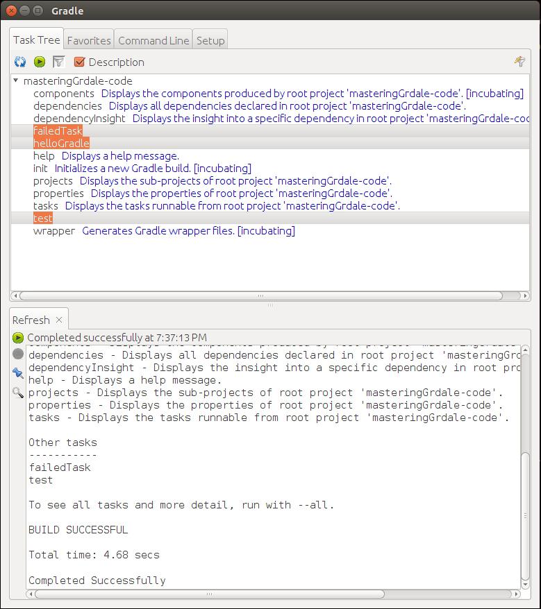 The Gradle GUI - Mastering Gradle
