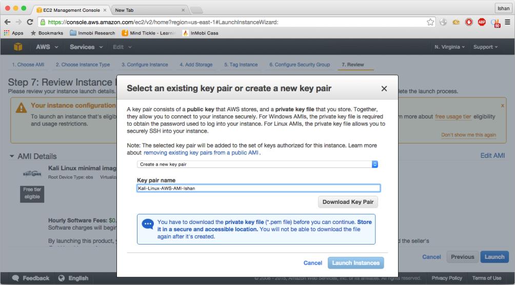 Installing Kali Linux on Cloud - Amazon AWS - Kali Linux Intrusion