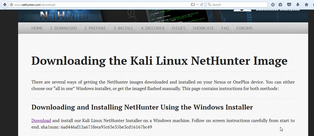 Installing NetHunter on OnePlus One - Kali Linux Intrusion