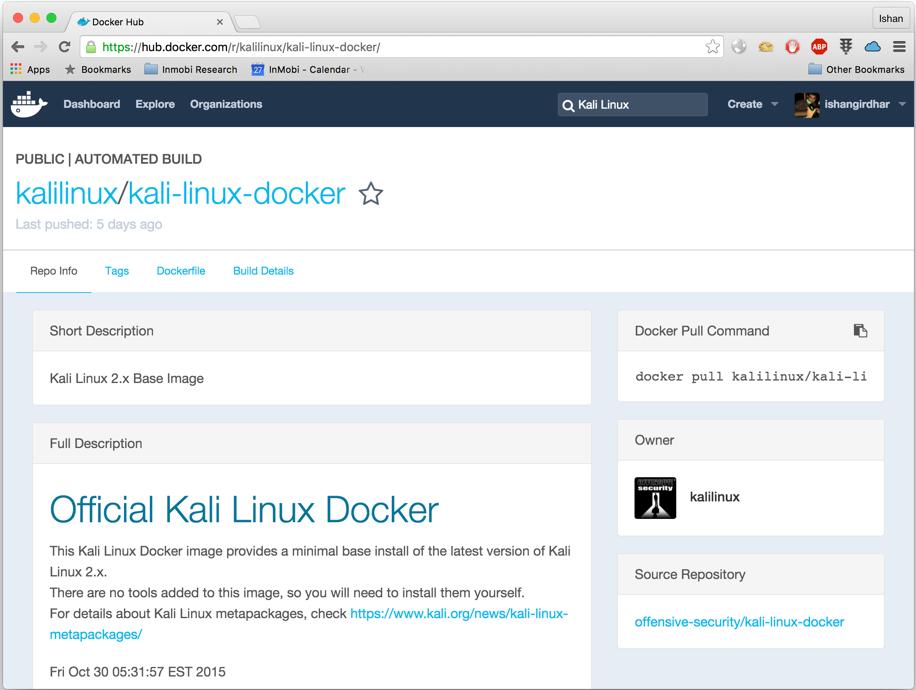 Docker kali linux