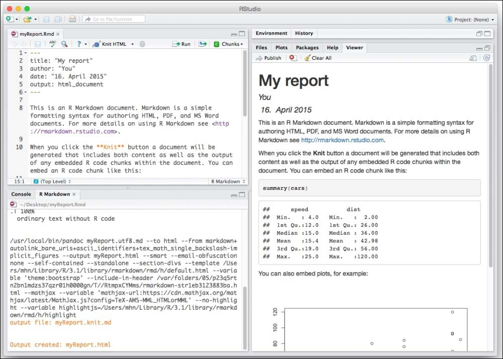 The R Markdown interface - Mastering RStudio - Develop, Communicate