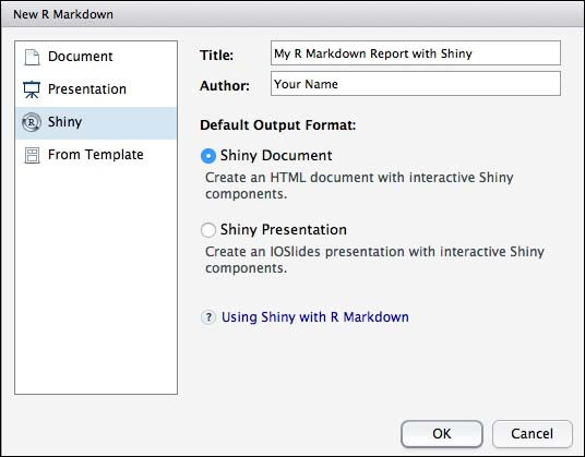Using R Markdown and Shiny - Mastering RStudio - Develop