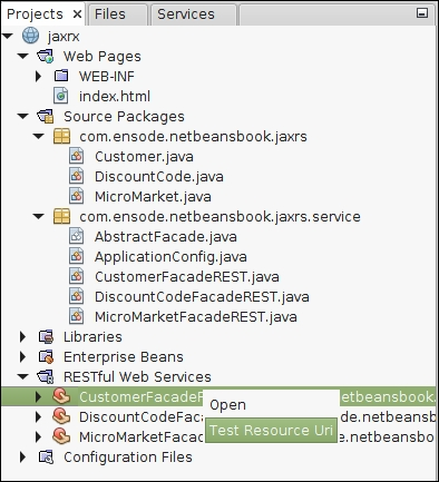 Testing our RESTful web service - Java EE 7 Development with