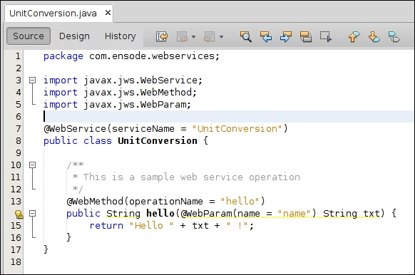 Creating a simple web service - Java EE 7 Development with