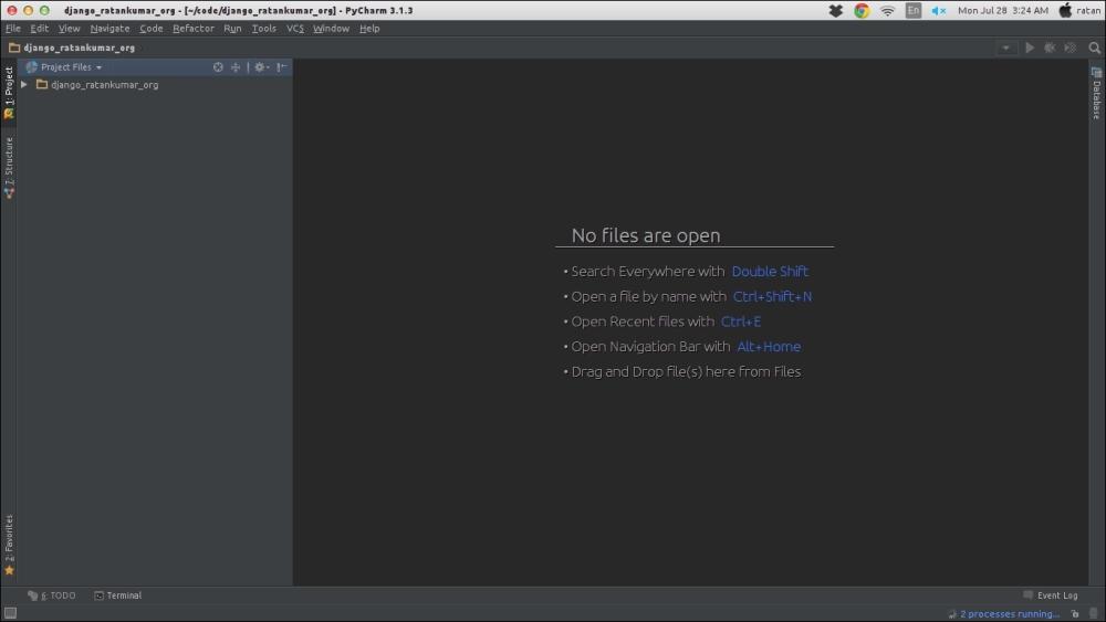 Setting up the PyCharm IDE - Learning Django Web Development