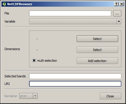 Opening a NetCDF file - QGIS 2 Cookbook