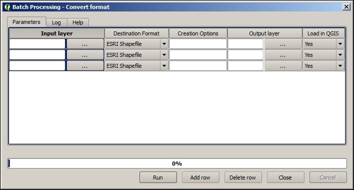 Batch format conversion - QGIS 2 Cookbook