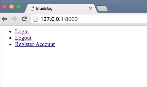 User accounts - Django Project Blueprints