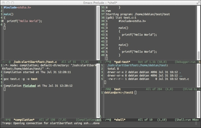 Creating an embedded development environment with Emacs