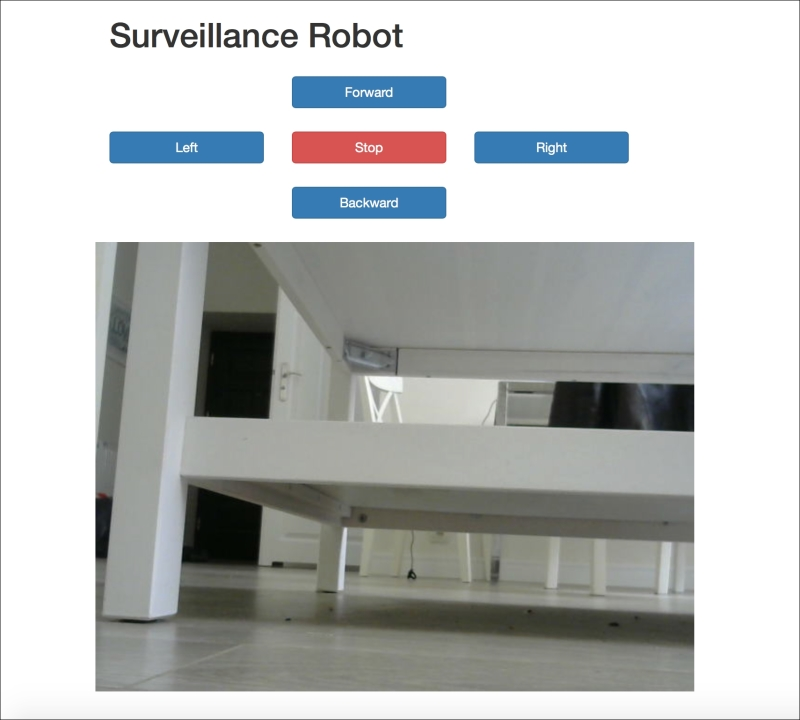 Testing the surveillance robot - Arduino for Secret Agents