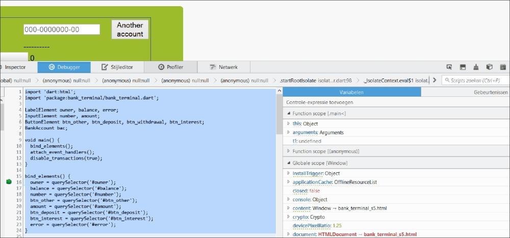 Debugging your app in JavaScript for Chrome - Dart Cookbook