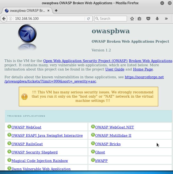 Installing OWASP-BWA - Kali Linux Cookbook - Second Edition