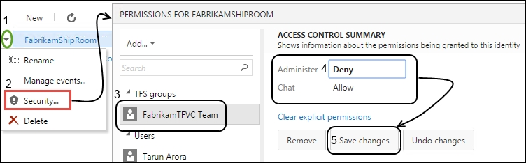 Creating and setting up a Team Room - Microsoft Team