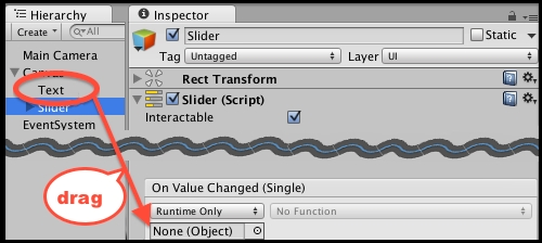 Displaying the value of an interactive UI Slider - Unity 5 x