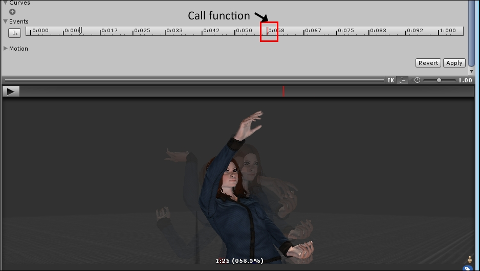 Using Animation Events to throw an object - Unity 5 x Cookbook