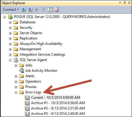 SQL Server error logs - PowerShell for SQL Server Essentials