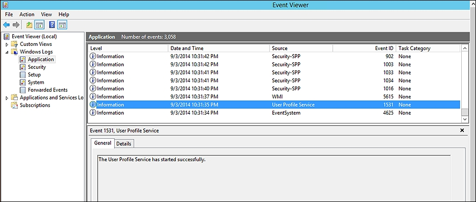 Troubleshooting the Hyper-V environment using the event log
