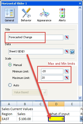 Using sliders to create a what-if scenario - SAP BusinessObjects