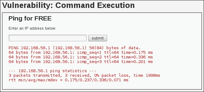 Exploiting OS Command Injections - Kali Linux Web Penetration