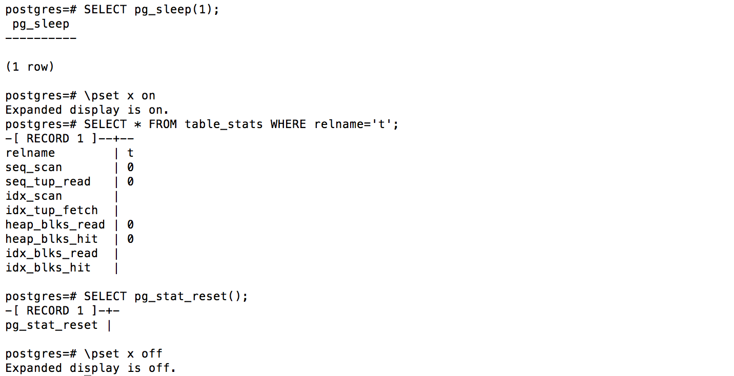 Psql Table Counts