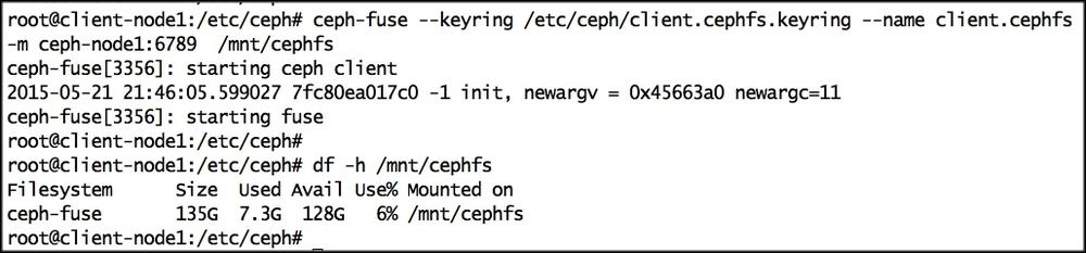 Accessing CephFS via FUSE client - Ceph Cookbook