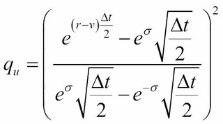 Trinomial trees in options pricing - Mastering Python for