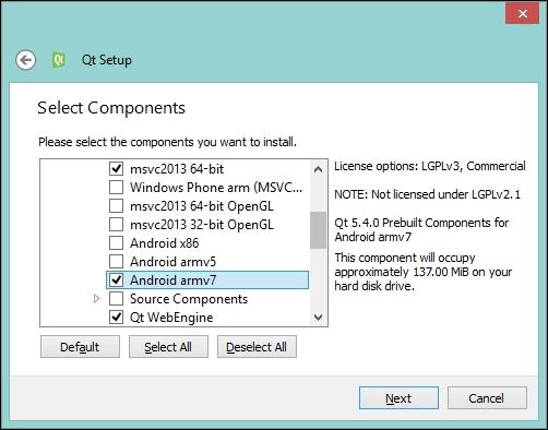 Setting up Qt for Android - Qt 5 Blueprints