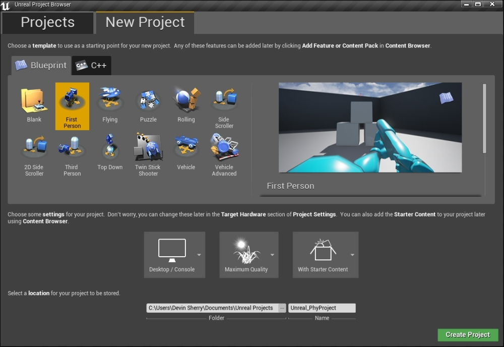 Launching Unreal Engine 4 - Unreal Engine Physics Essentials
