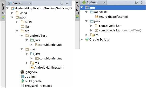 Creating the Android project - Learning Android Application