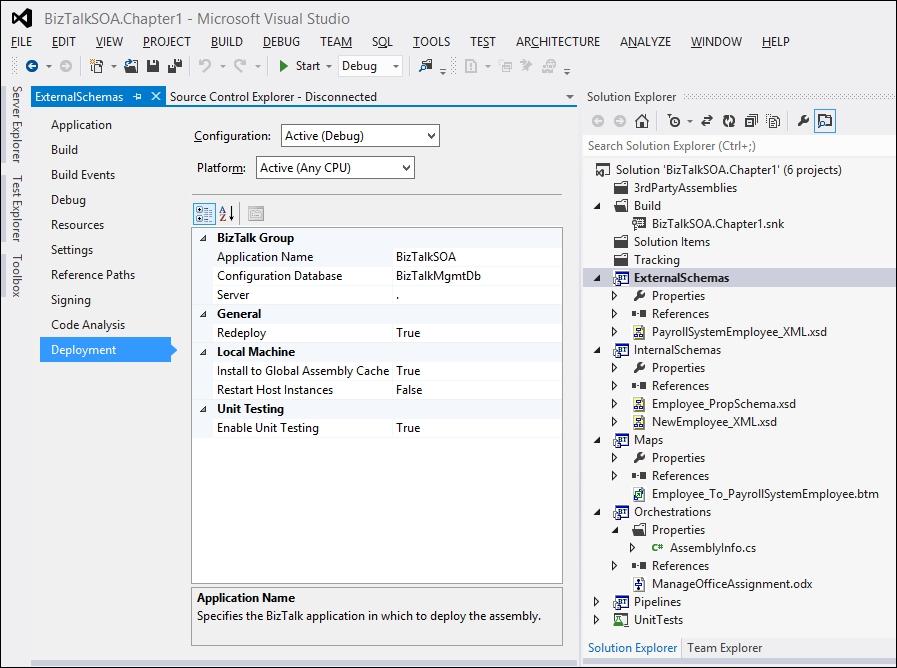 Setting up new BizTalk projects - SOA Patterns with BizTalk Server