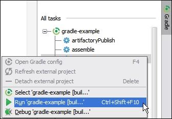 Executing Gradle tasks - IntelliJ IDEA Essentials
