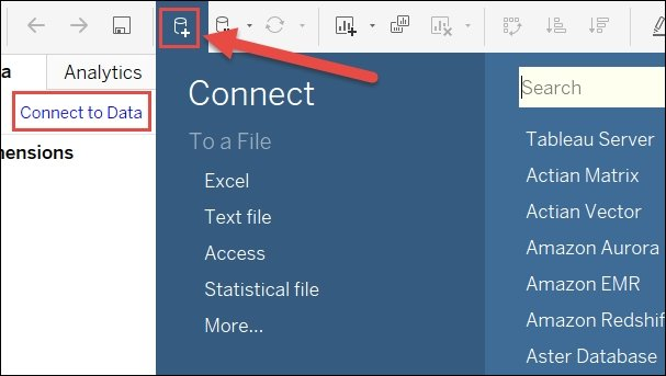 Connecting Tableau to your data - Mastering Tableau