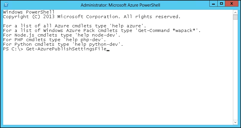 Connecting to Microsoft Azure using PowerShell - Automating