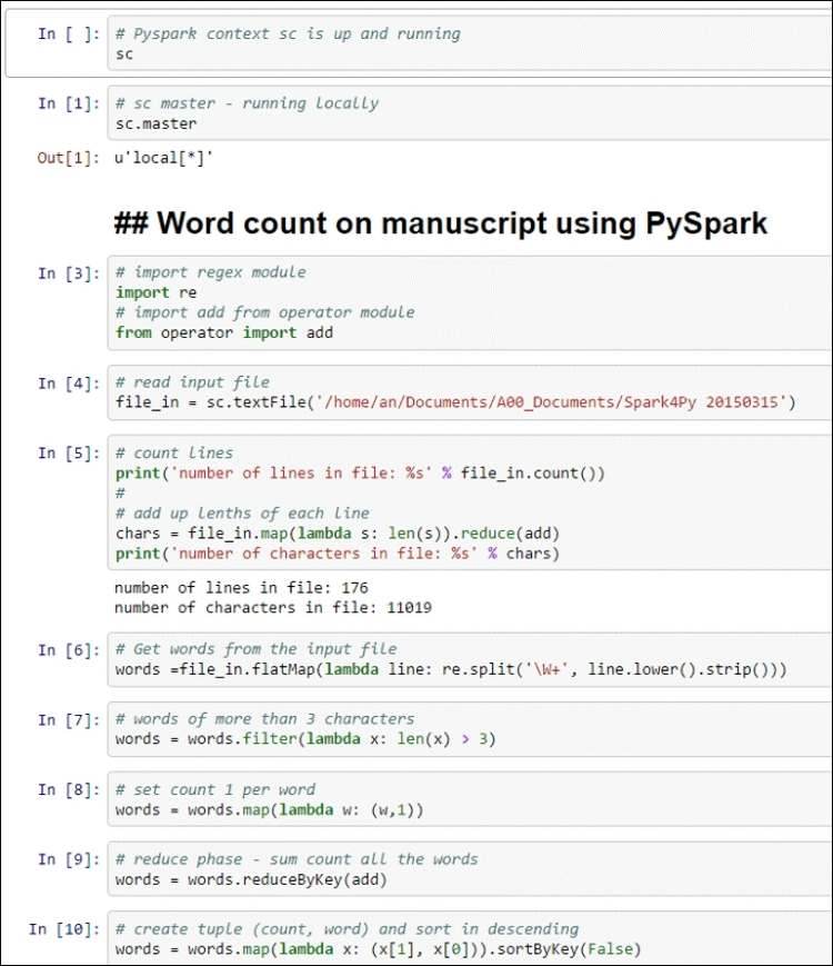 Building our first app with PySpark - Spark for Python