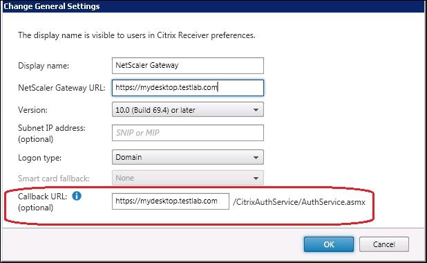 NetScaler callback URL configuration - Troubleshooting