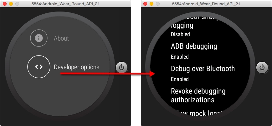 Debug your Android wearable app over Bluetooth - Android