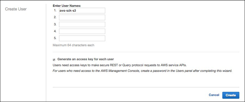 Learning AWS SDK for Java and basic S3 operations with