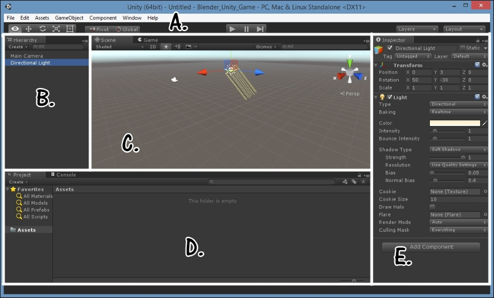 Basic user interface of Unity - Building a Game with Unity
