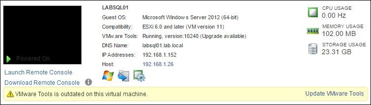 Upgrading and installing VMware Tools - VMware vSphere 6 x