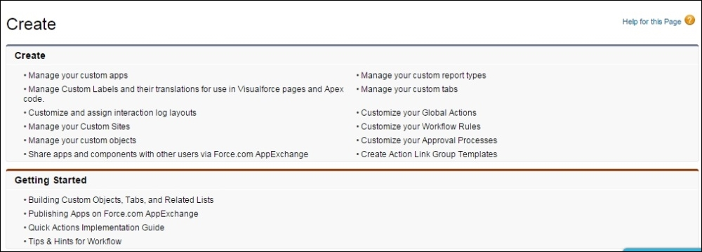 Force com application types - Salesforce Platform App