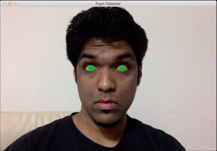 Detecting pupils - OpenCV with Python By Example