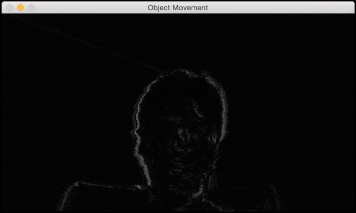 Frame differencing - OpenCV with Python By Example