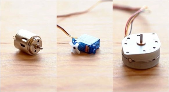 Different types of motors - Arduino BLINK Blueprints