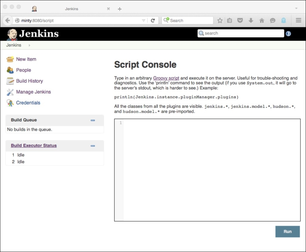 The Jenkins script console and Groovy - Extending Jenkins