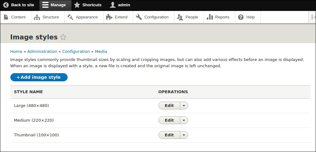 Creating a custom image style - Drupal 8 Development