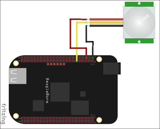 Motion detection using PIR sensors - BeagleBone By Example