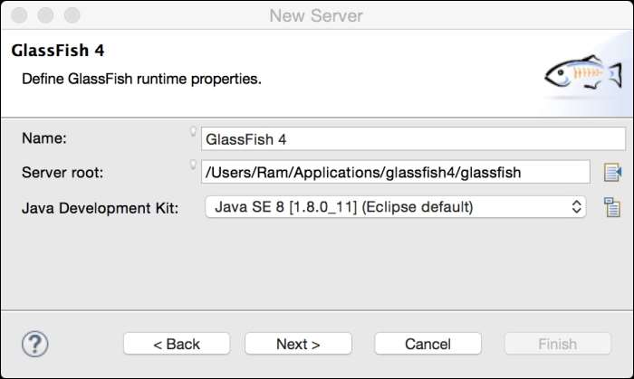Configuring the GlassFish server in Eclipse - Java EE