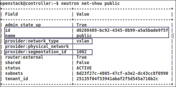 Viewing a VNI assigned to a Neutron Network - OpenStack
