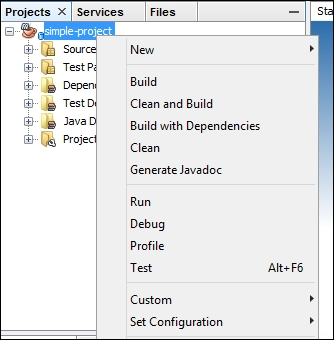 Using NetBeans to run Maven goals - Apache Maven Cookbook