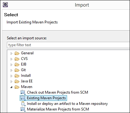 Importing an existing Maven project in Eclipse - Apache